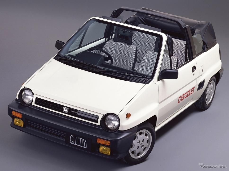 パジェロ製造が1984年に受託生産を始めたホンダ・シティカブリオレ《写真提供 ホンダ》