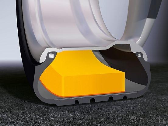 コンチネンタルの電動パワートレイン車向け専用タイヤに採用される「ContiSilent」テクノロジー《photo by Continental》