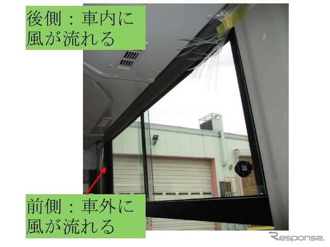 走行時の風の流れ《写真提供 三菱ふそうトラック・バス》