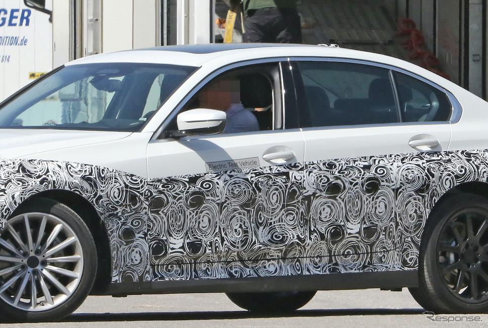BMW 3シリーズ EV 市販型プロトタイプ(スクープ写真)《APOLLO NEWS SERVICE》