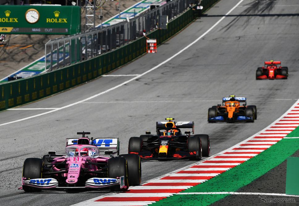 #11 セルジオ・ペレス(レーシングポイント)/2020年F1第1戦オーストリアGP《写真提供 Pirelli》