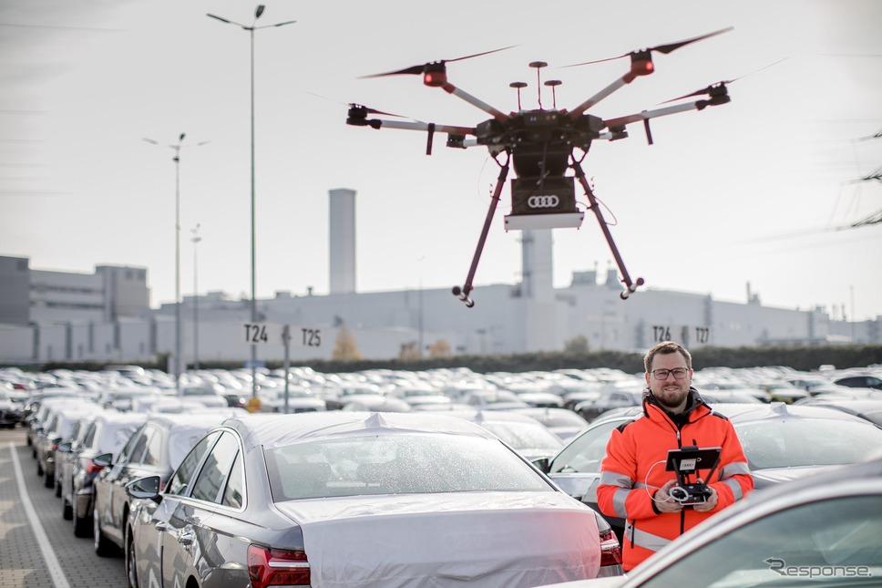 アウディが活用している自律飛行型ドローン《photo by Audi》