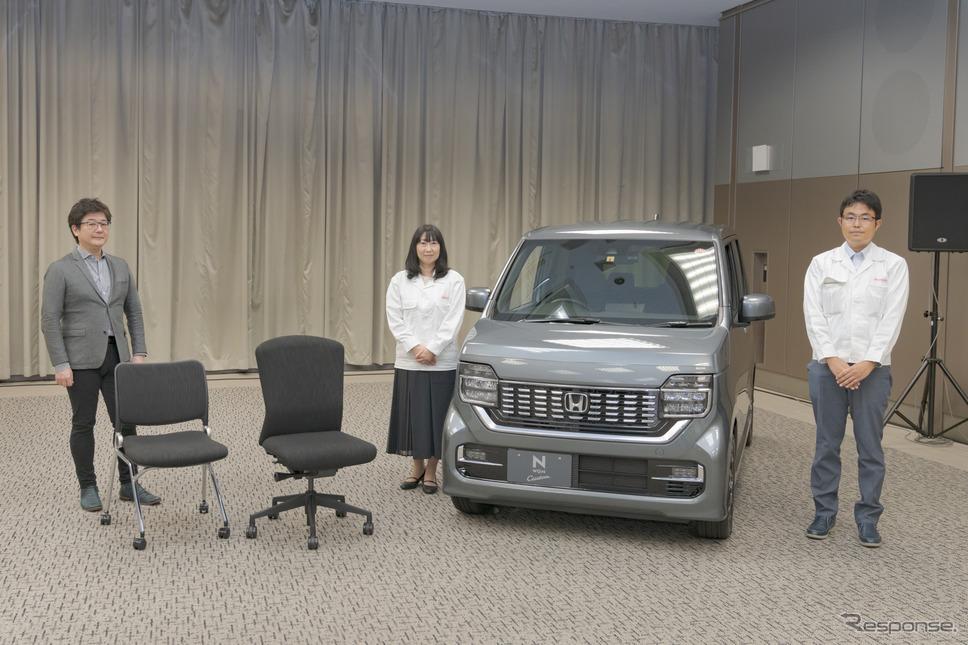 ホンダ車の抗ウイルス生地を使ってオフィスチェアを開発。《写真撮影 関口敬文》
