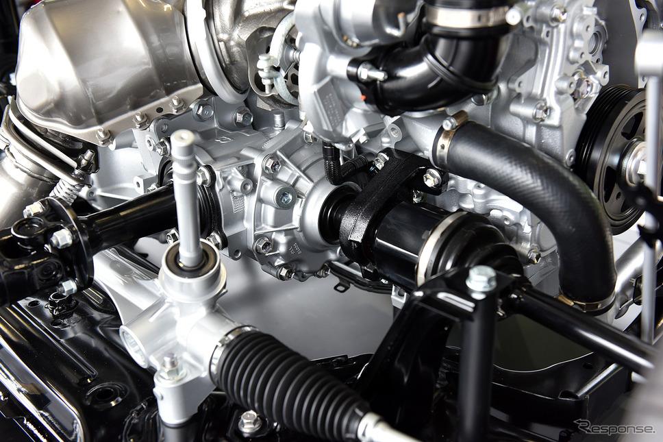 トヨタ GRヤリス(4WD)のカットモデル《写真撮影 中野英幸》