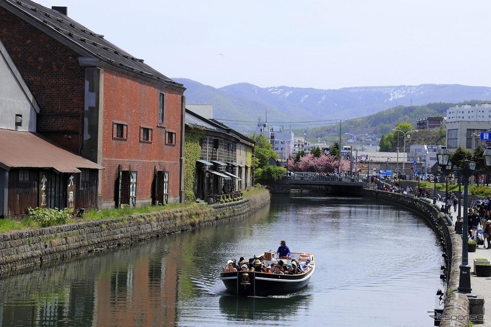小樽運河クルーズ《写真提供 ヤマハ発動機》