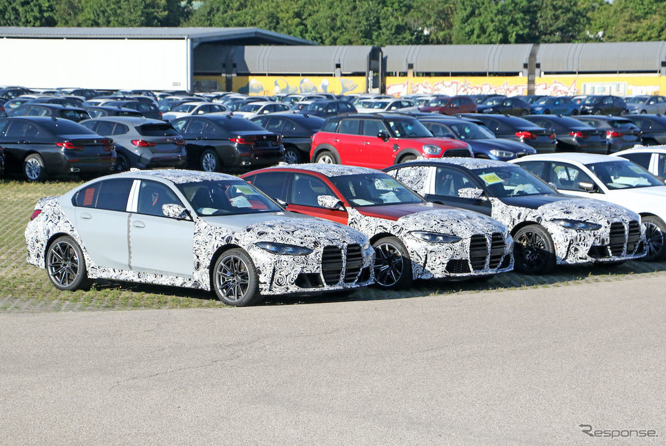 BMW M3セダン 次期型プロトタイプ(スクープ写真)《APOLLO NEWS SERVICE》