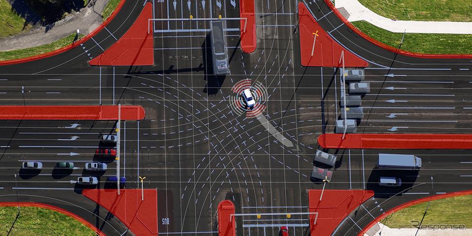 市街地の自動運転で車両とインフラを連携させるボッシュの「MEC-View」研究プロジェクト《photo by Bosch》