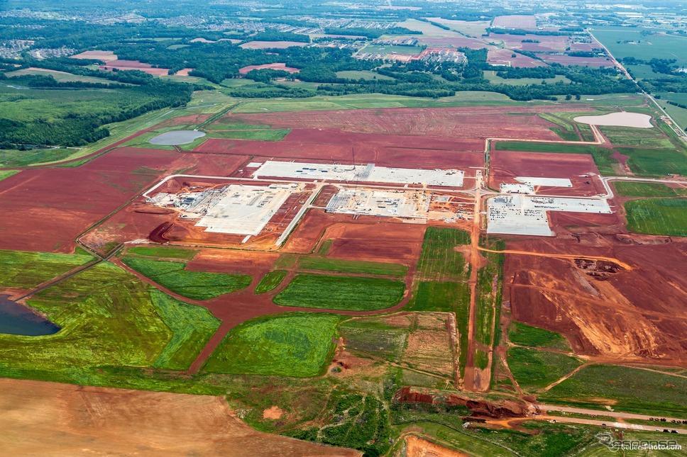 マツダとトヨタが米国アラバマ州に建設中の新工場《photo by Toyota》