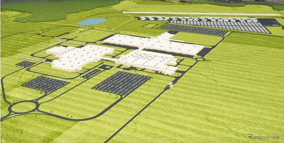 マツダとトヨタが米国に建設中の新工場の完成イメージ《photo by Mazda》