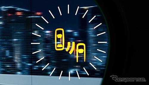 ブラインドスポットモニター<BSM>ドアミラーLEDインジケーター部 拡大イメージ《写真提供 トヨタ自動車》