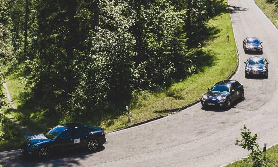ポルシェ・パナメーラ 改良新型のプロトタイプ《photo by Porsche》
