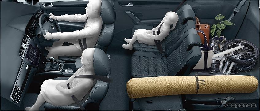 VW ゴルフ トゥーラン TSI コンフォートライン リミテッド シートアレンジイメージ《写真提供 フォルクスワーゲン グループ ジャパン》