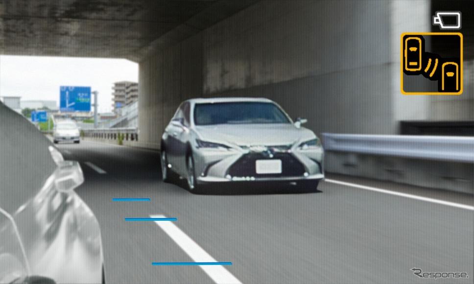 デジタルアウターミラーディスプレイ(通常)《写真提供 トヨタ自動車》