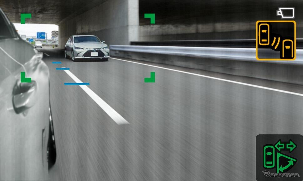 デジタルアウターミラーディスプレイ(表示エリア拡大)《写真提供 トヨタ自動車》