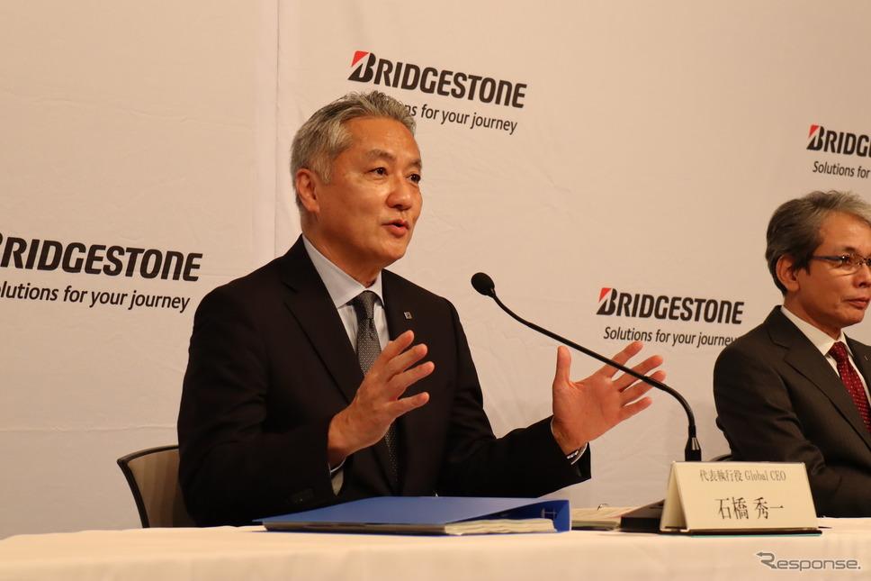 ブリヂストンの石橋秀一CEO、右は東正浩COO《写真提供:ブリヂストン》