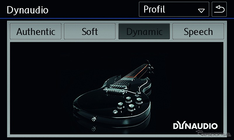 VW ティグアン TSI/TDI R-ライン ブラックスタイル ディナウディオパッケージ サウンド設定ダイナミック画面《写真提供 フォルクスワーゲン グループ ジャパン》