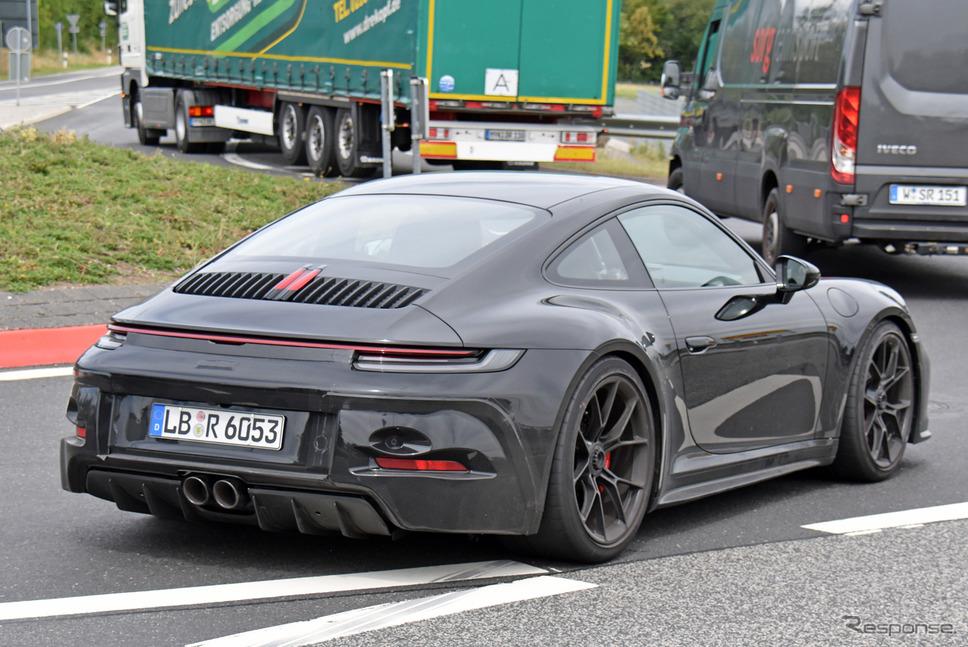 ポルシェ 911 GT3ツーリング 新型プロトタイプ(スクープ写真)《APOLLO NEWS SERVICE》