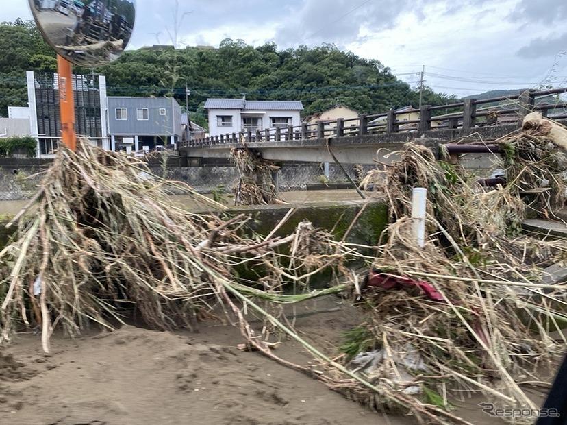 令和2年7月豪雨の被災現場《写真提供 Carstay》