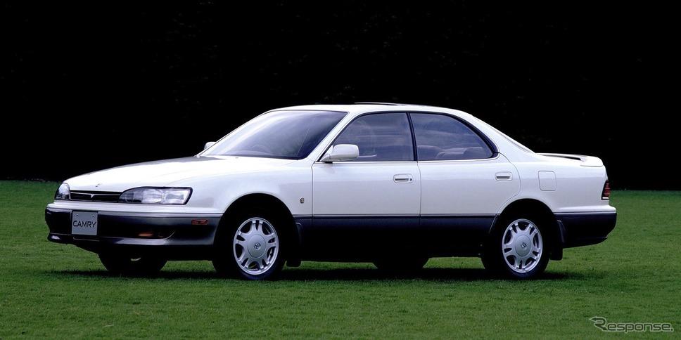 4代目トヨタ・カムリ(1990年)。写真はハードトップ。《写真提供 トヨタ自動車》