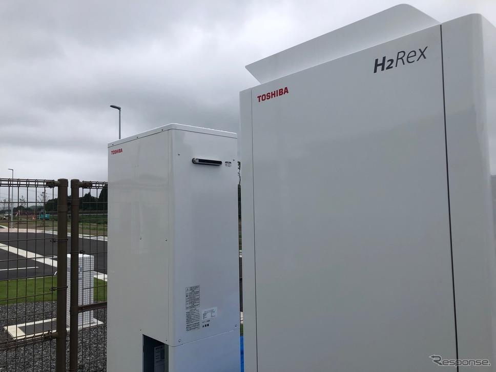 「道の駅なみえ」に納入された3.5kW「H2Rex」《写真提供 東芝エネルギーシステムズ》