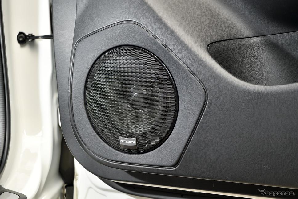 スピーカーにはcarrozzeria TS-V173Sをアウターマウントで装着《写真撮影 雪岡直樹》