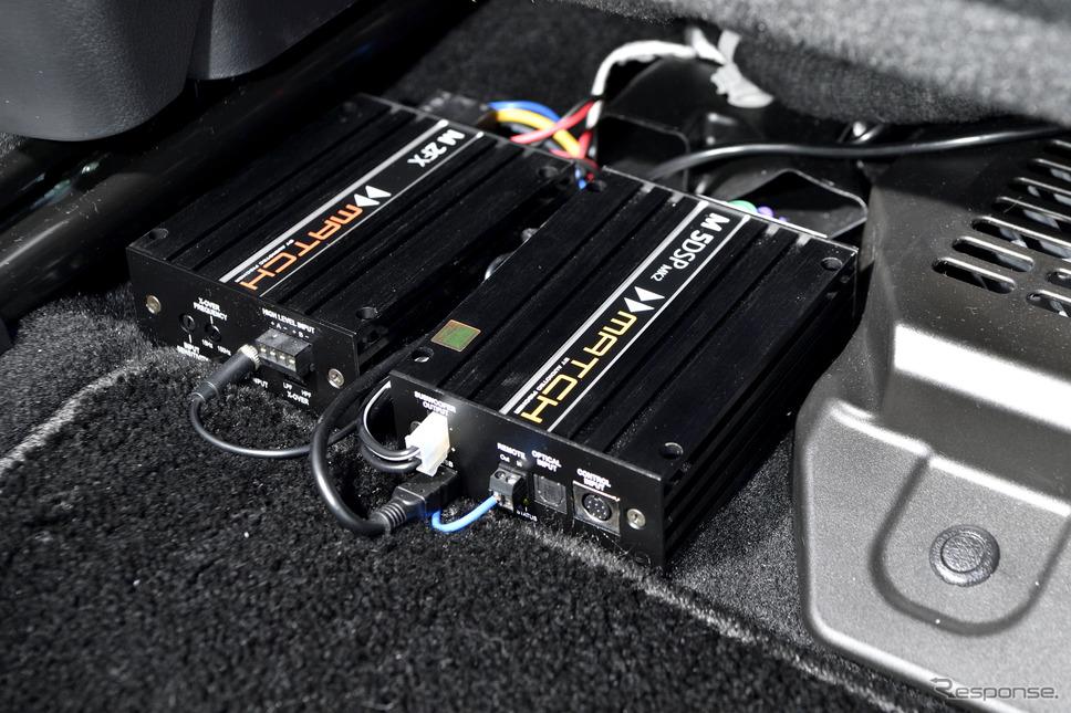 各スピーカーをコントロールしているDSPはマッチのM5 DSP MK2《写真撮影 雪岡直樹》