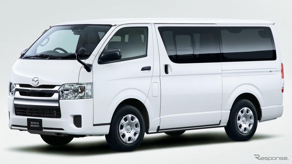 ブローニイとして3代目はトヨタからのOEM供給となった。マツダ・ボンゴブローニイバン、GL、2WD(2019年)《写真提供 マツダ》