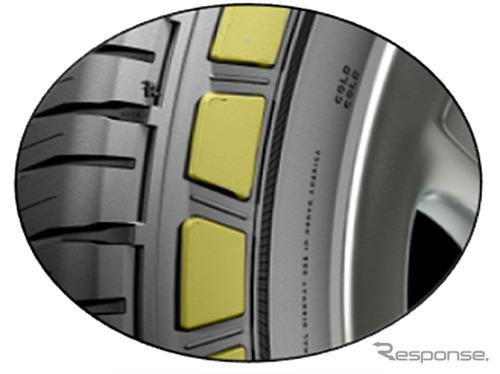 サイドウォールプロテクター/耐アブレージョンラバー《写真提供 日本ミシュランタイヤ》