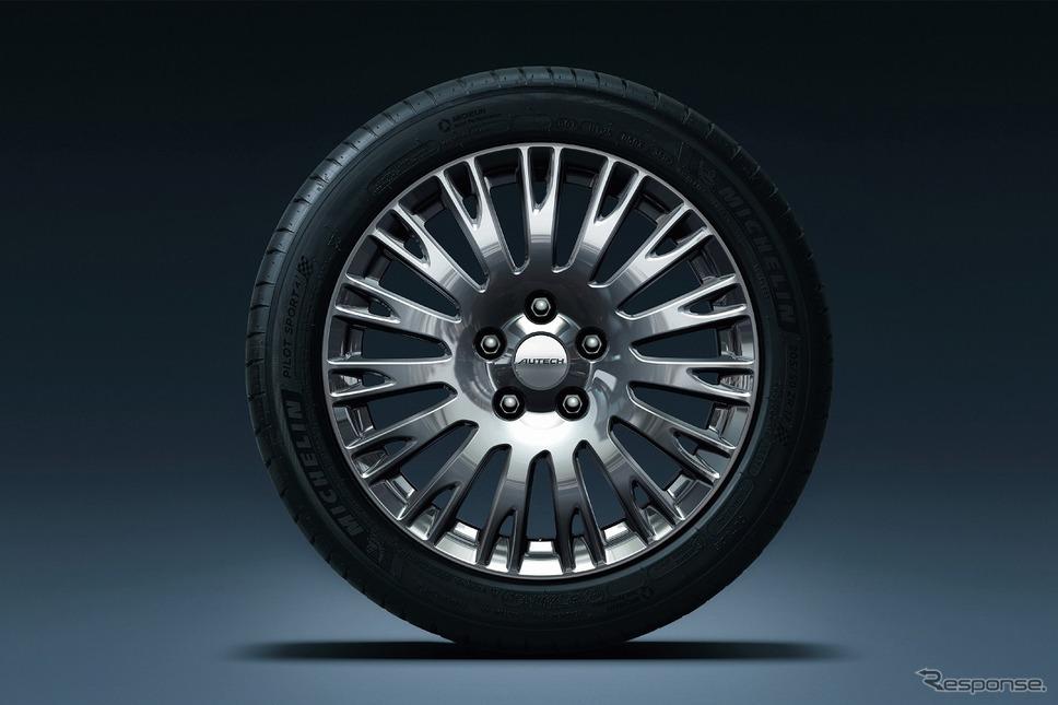 日産 セレナ e-POWER オーテック スポーツ スペック専用17インチダークグラファイトフィニッシュアルミロードホイール《写真提供 日産自動車》