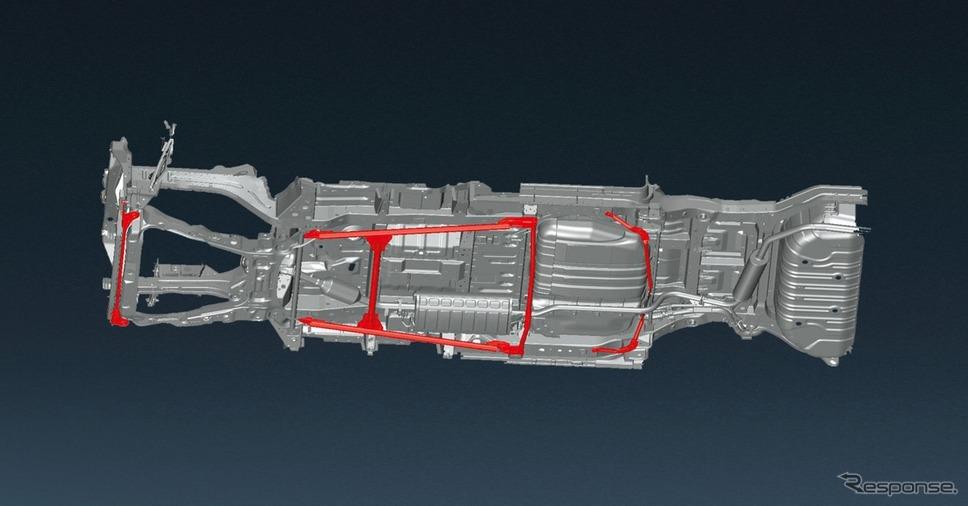日産 セレナ e-POWER オーテック スポーツ スペック専用ボディ補強《写真提供 日産自動車》