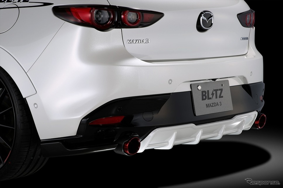 ブリッツ・エアロスピード R コンセプト for MAZDA3 リアサイドスポイラー/リアディフューザー《写真提供 ブリッツ》