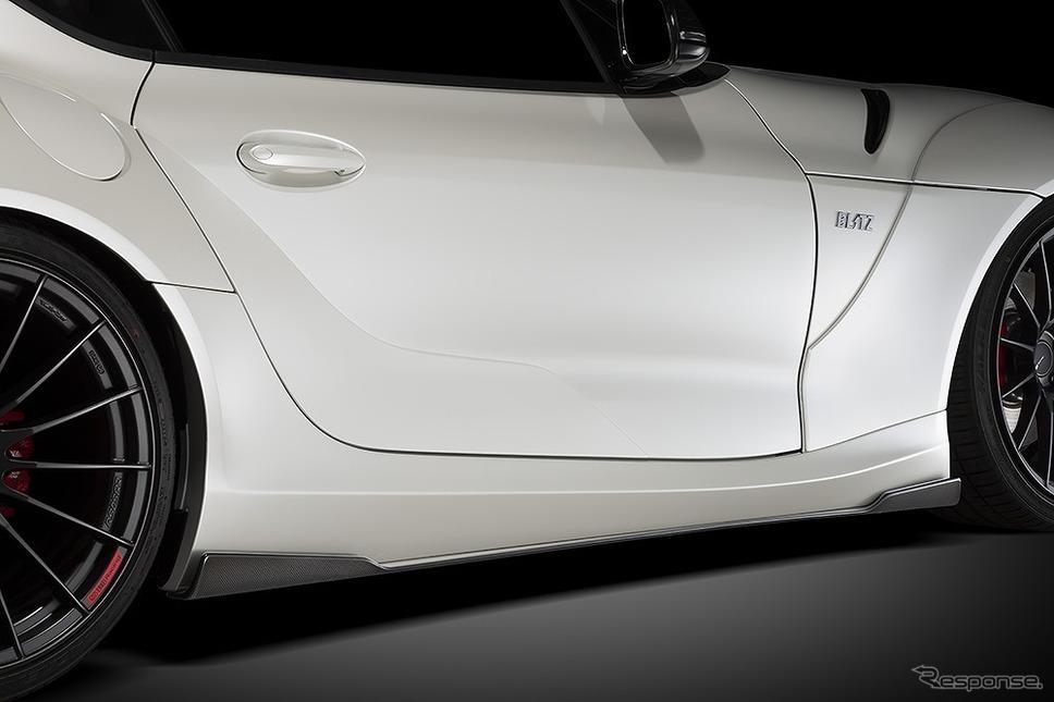 ブリッツ・エアロスピード R コンセプト for SUPRA サイドスポイラー(FRP)&サイドディフューザーカーボン《写真提供 ブリッツ》