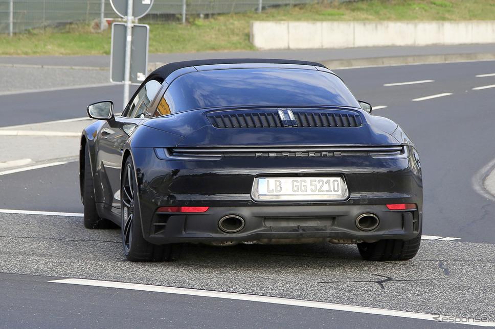 ポルシェ 911タルガ4 GTS プロトタイプ(スクープ写真)《APOLLO NEWS SERVICE》
