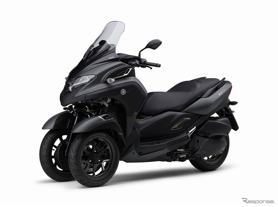 ヤマハ トリシティ300 ABS(マットグリーニッシュグレー)《写真提供 ヤマハ発動機》