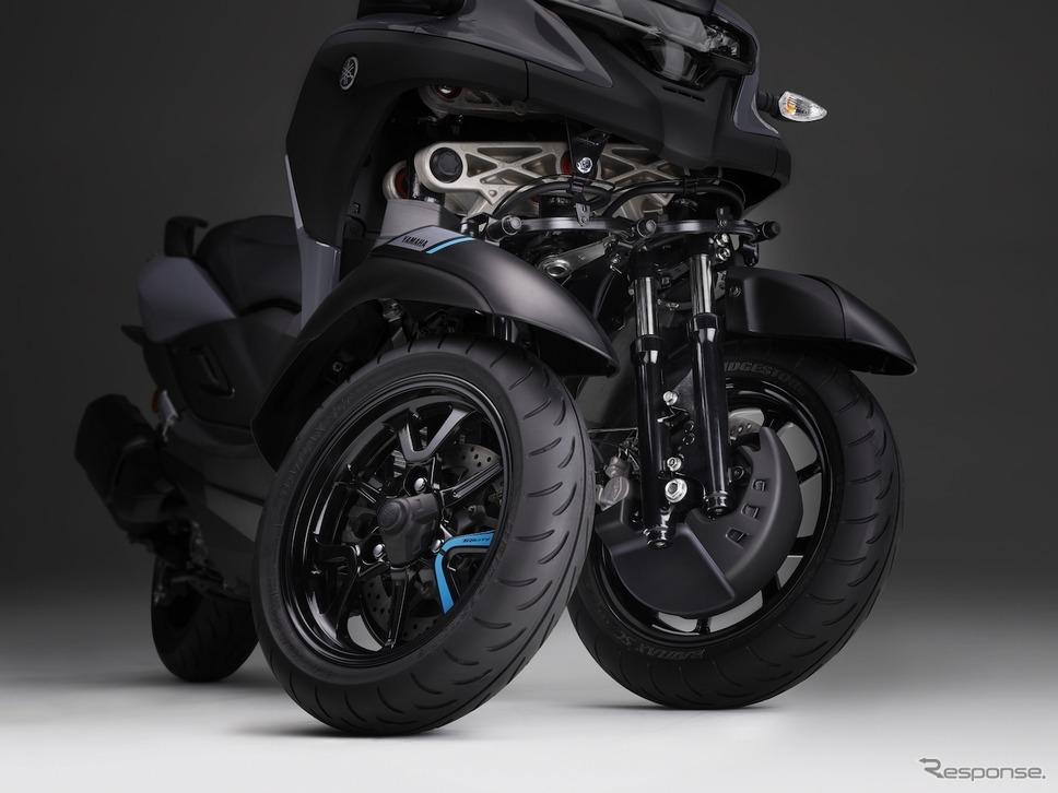 「LMWアッカーマン・ジオメトリ」を採用するヤマハ トリシティ300 ABS《写真提供 ヤマハ発動機》