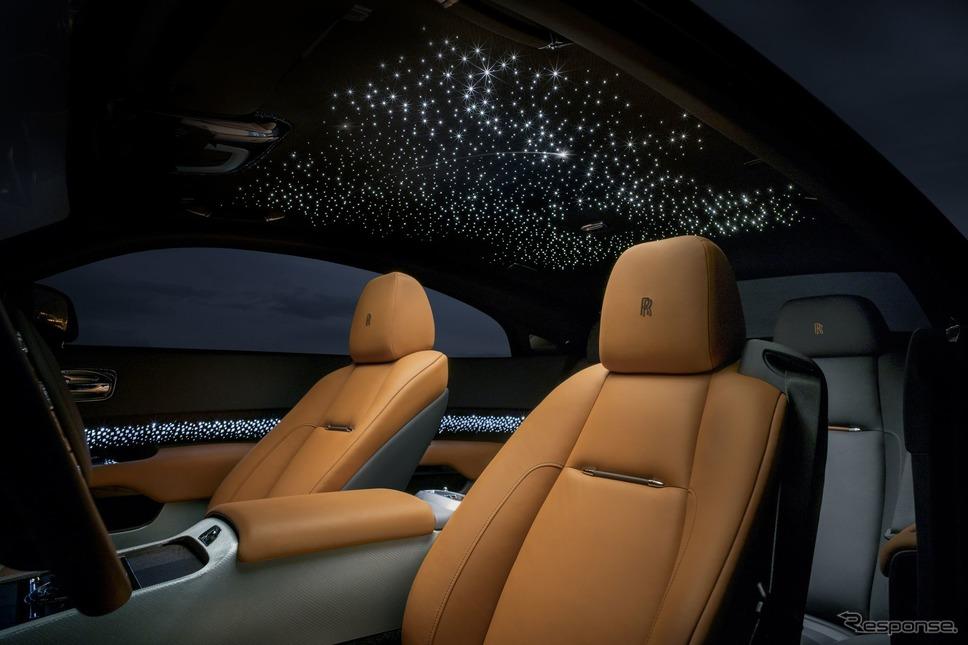 ロールスロイス・レイスの「スターライト・ヘッドライニング」(参考)《photo by Rolls-Royce》