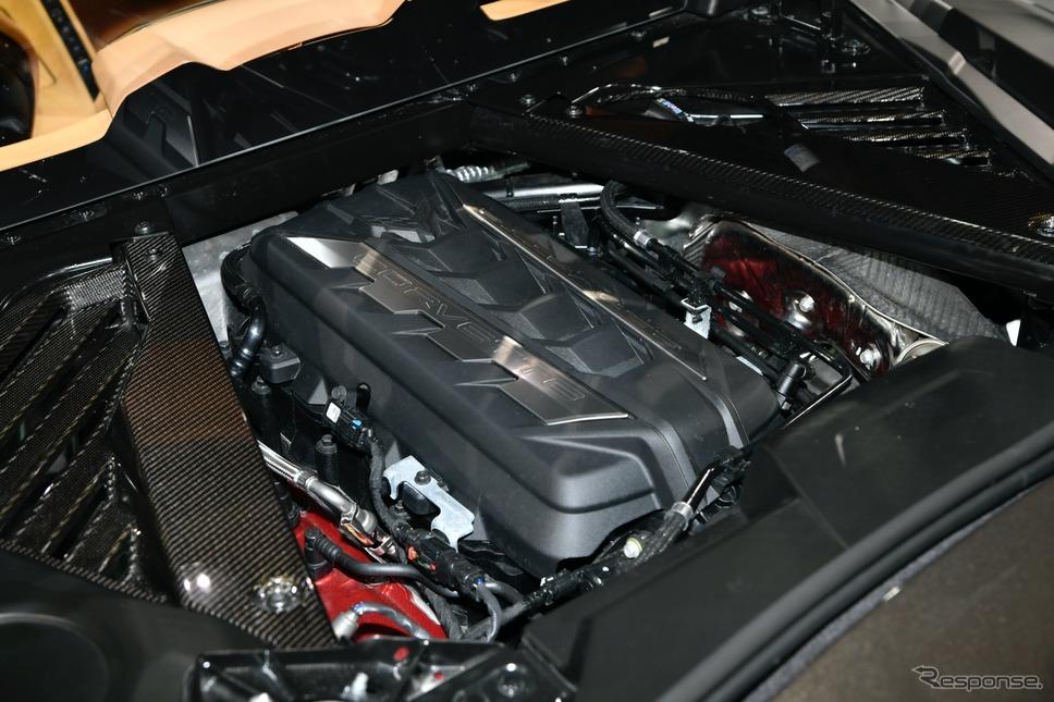 シボレー コルベット新型のエンジン(東京オートサロン2020)《写真撮影 雪岡直樹》