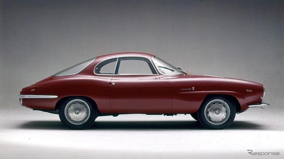 1963年 ジュリア・スプリント・スペチアーレ。フェンダーの文字はジュリアSS《photo by Alfa Romeo》