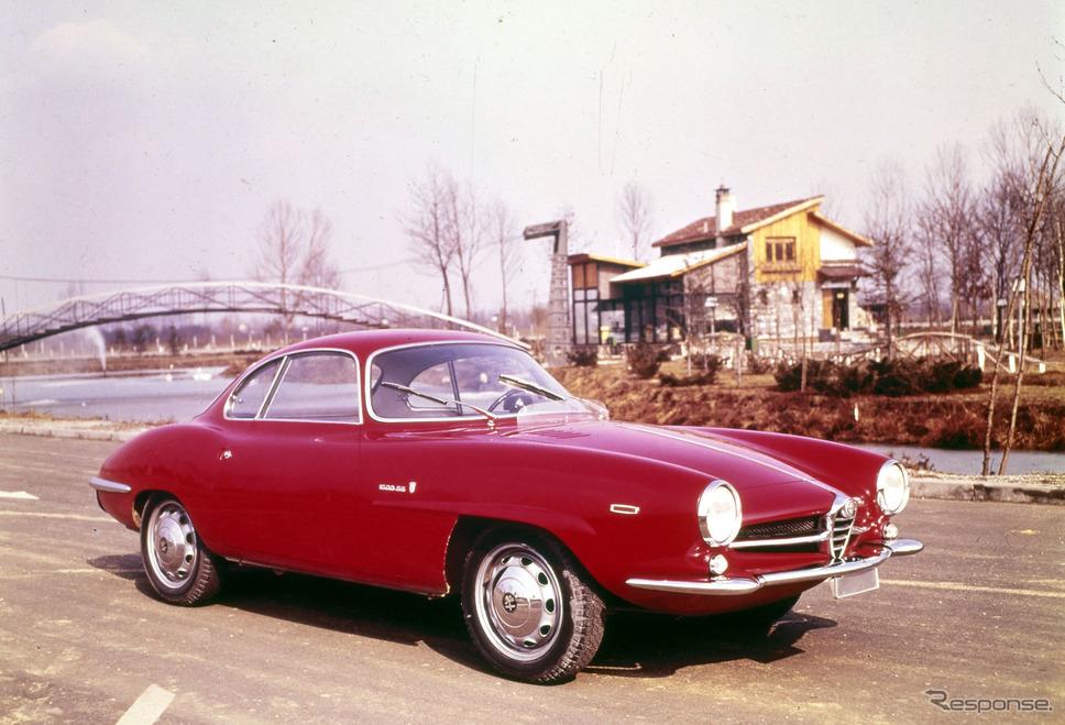 1963年 ジュリア・スプリント・スペチアーレ。フェンダーの文字は1600SS《photo by Alfa Romeo》