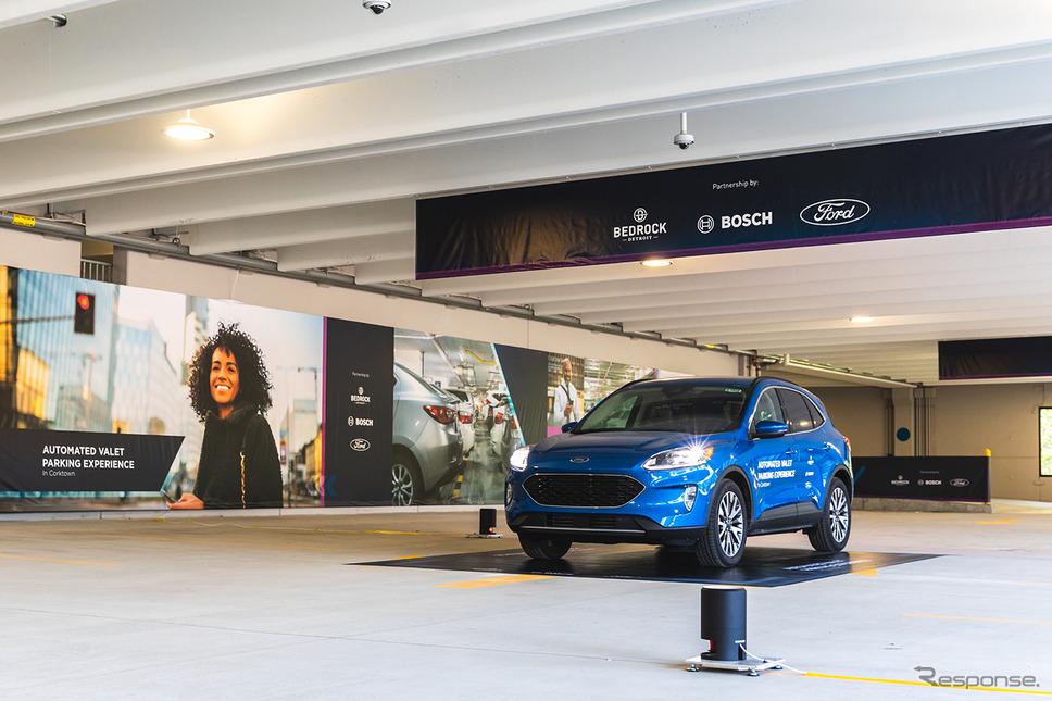 ボッシュの自動駐車の実証実験《photo by Bosch》