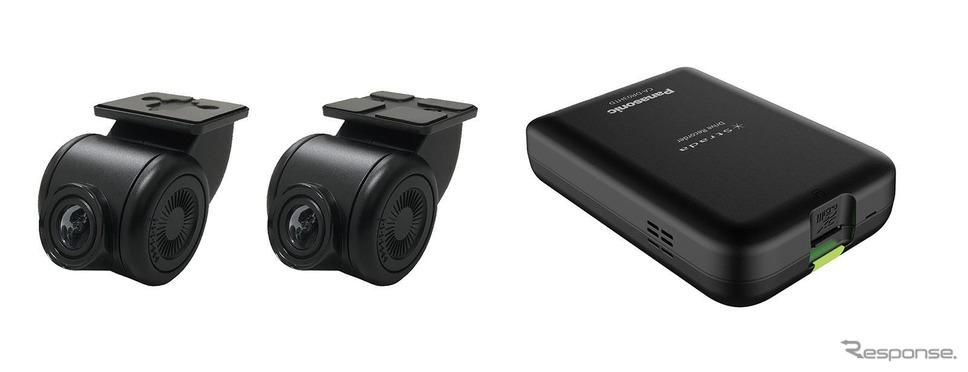 ストラーダF1X PREMIUM10専用のドライブレコーダーCA-DR03HTD。10月中旬発売予定《写真提供 パナソニック》