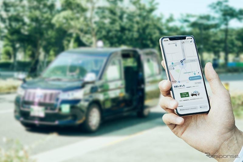 新タクシーアプリ「GO」《写真提供 モビリティテクノロジーズ》