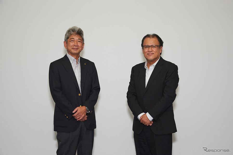 ヤマハ発動機 島本誠取締役(左)と静岡大学 木村雅和副学長《写真提供 ヤマハ発動機》