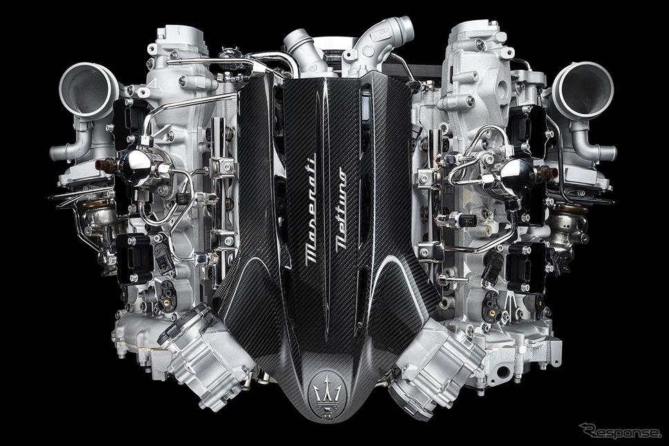 マセラティ MC20 に搭載される新開発の3.0リットルV型6気筒ツインターボエンジン《photo by Maserati》