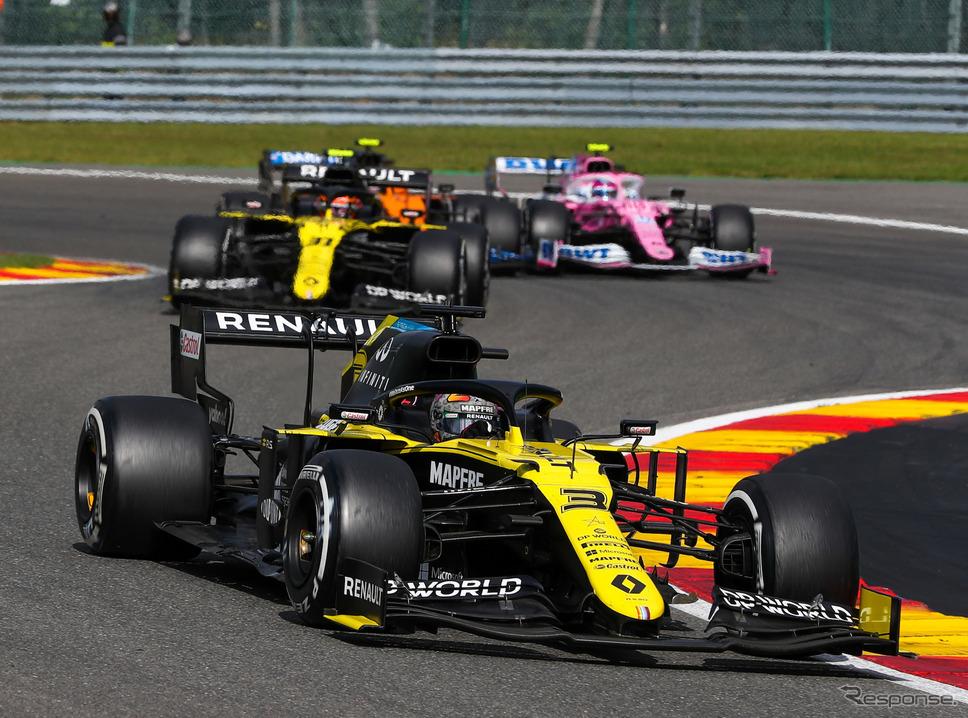 2020年シーズンのルノーF1チーム(#3 D.リカルド、#31 E.オコン)《写真提供 Pirelli》