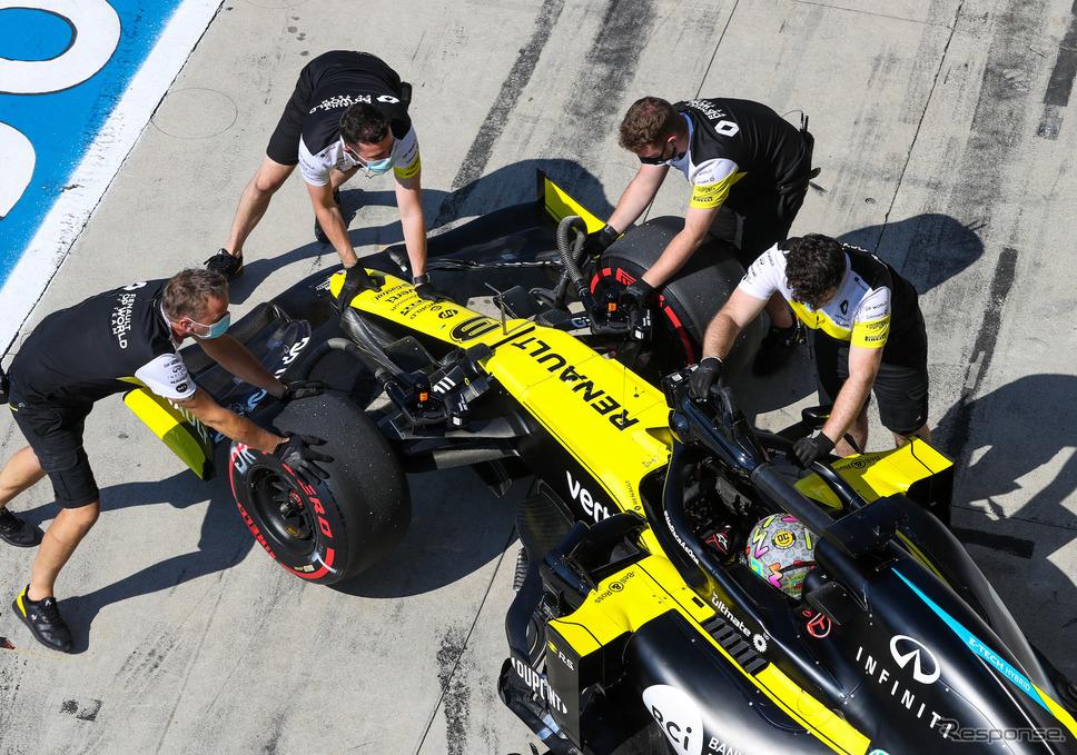 2020年シーズンのルノーF1チーム(#3 D.リカルド)《写真提供 Pirelli》