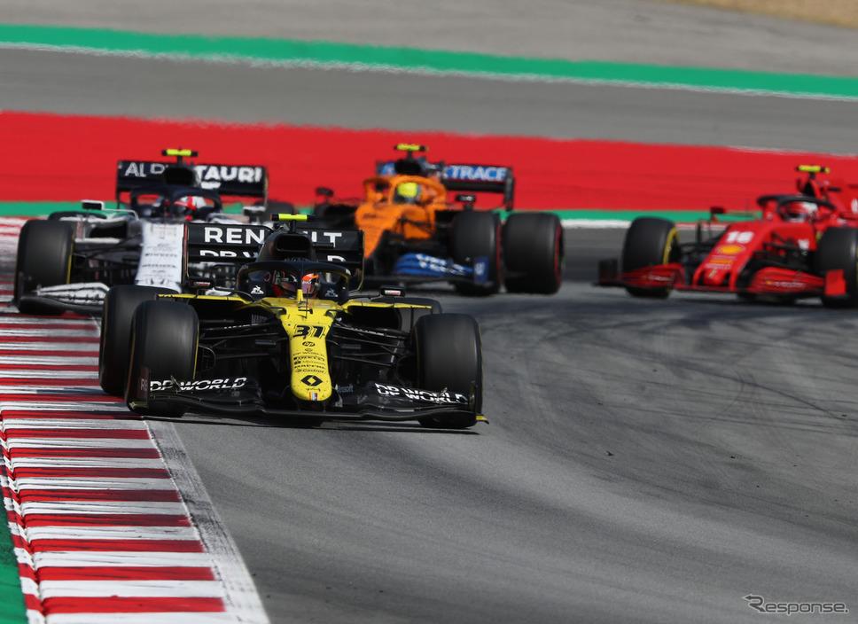 2020年シーズンのルノーF1チーム(#31 E.オコン)《写真提供 Pirelli》
