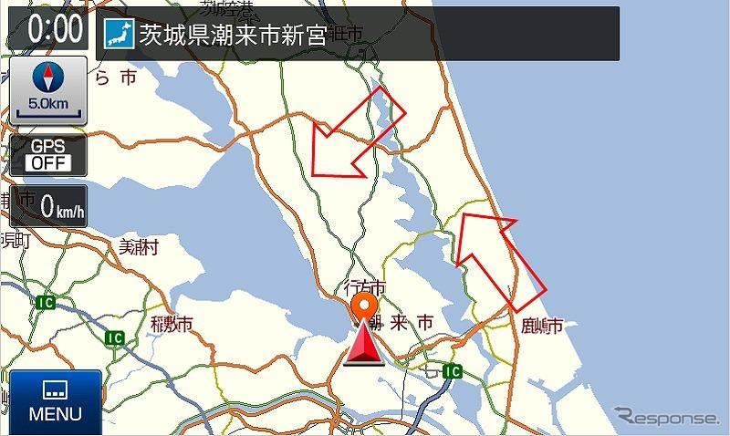 広域地図における探索道路の比較:新データ