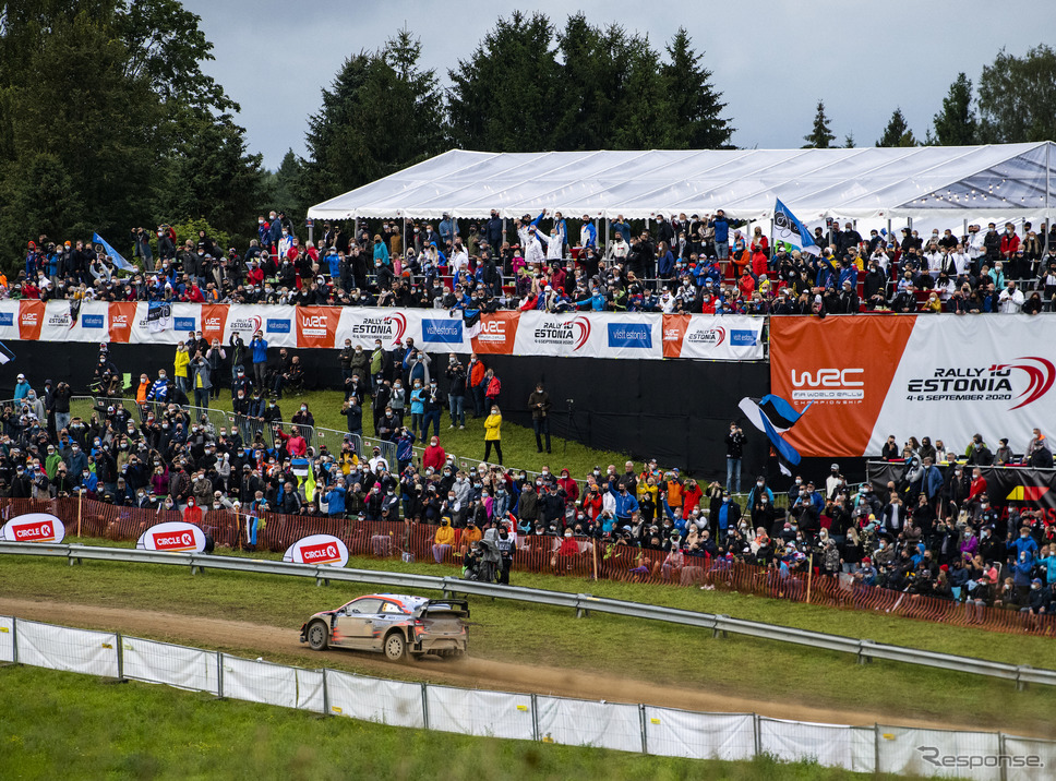 "WRCがエストニアで""シーズン再開""を迎えた。同国の英雄、#8 タナク(ヒュンダイ)が優勝を飾る。《写真提供 Red Bull》"