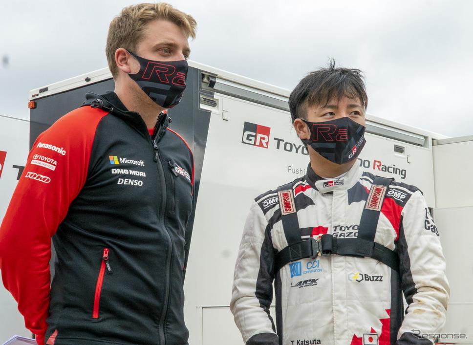 トヨタ育成選手の勝田貴元(右)。《写真提供 TOYOTA》